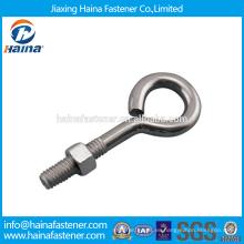 En existencia Proveedor Chino Mejor Precio Acero al carbono / Ojo de acero inoxidable perno con superficie galvanizada