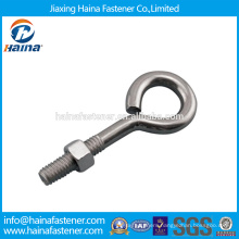 In Stock Chinese Supplier Best Price Carbon Steel /Stainless Steel Eye bolt With Galvanized Surface