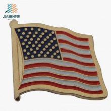 Regalo de la promoción Artesanía de metal Recuerdo personalizado EE.UU. Bandera Solapa Pin Insignia