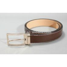 Man's 3.0cm brown col formal PU belt