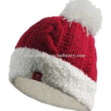 Winter angepasste Männer stricken Pom Pom-Mütze-Muster