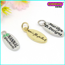 Wholesale Alloy Oval Logo Tag Charm for Jewelry #19539