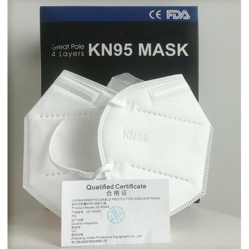 Earloop ffp2 KN95 respirador mascarilla