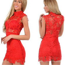 2015 Slim Fitting Sexy Lace Club Party Night Dress (50171)