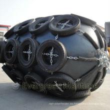 Defensas de goma neumáticas flotantes con cadena y neumático