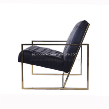 Tunn Frame Tufted Leather Lounge Chair