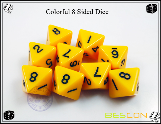 Colorful 8 Sided Dice-4