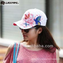 Gorras de béisbol bordadas mariposas lavadas de señora