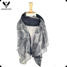 Lady′s Fashion Printed Soft Voile Scarf