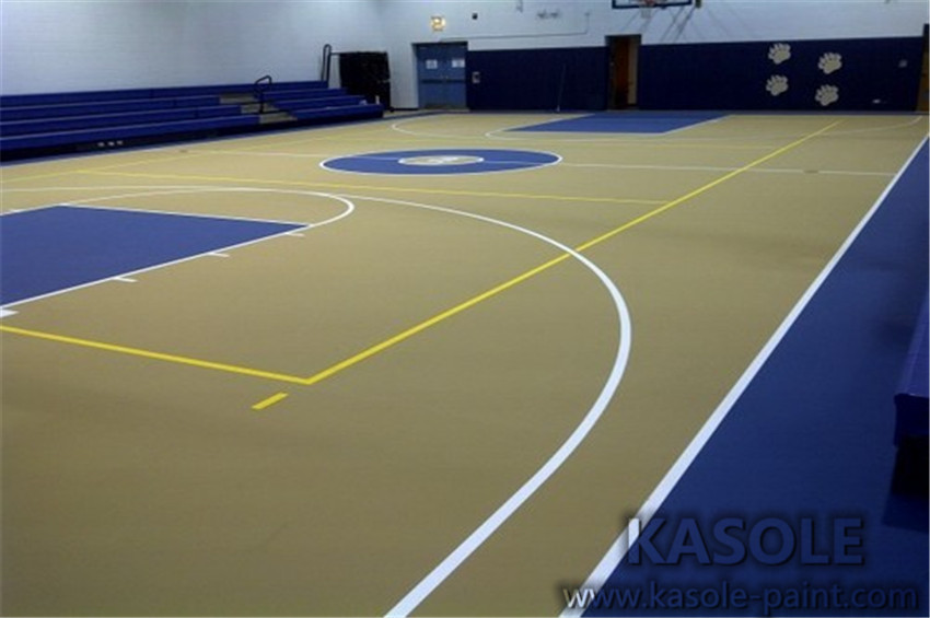 Super wear-resistant hard acrylic court
