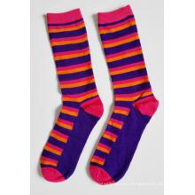 Women Fashion Strip Cotton Socks