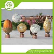 China Supplier High Quality hot sell curtain rod finials