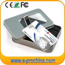 Venta al por mayor USB Card Drive Tarjeta de crédito USB Flash Drive para muestra gratis