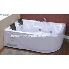 Bañera de hidromasaje de acrílico blanco cuadrado con hidromasaje (OL-631)