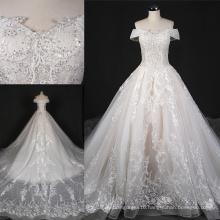 off Shoulder Beading Lace Prom Wedding Bridal Dress St7010