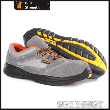 Low Cut PU/Rubber Outsole Safety Shoe with Suede Leather (SN5379)