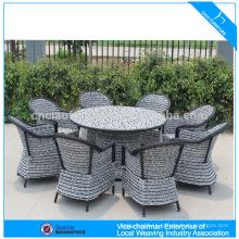Hot Sell rattan garden dining set outdoor leisure wicker furniture