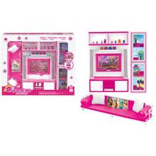 Plastic Pretend Play Set Puppenhaus Set mit Licht