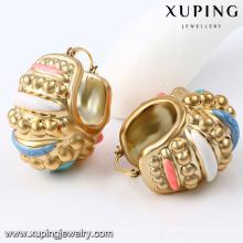 92295- Xuping pendiente barato oro bañado mujeres joyas de oreja para africano