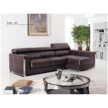 Sofá reclinável elétrico do sofá de couro genuíno do couro (855)