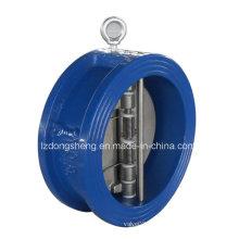 Обратный клапан с двухдисковым валом типа чугуна
