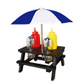 6pcs BBQ pique-nique tabel condiment ensemble
