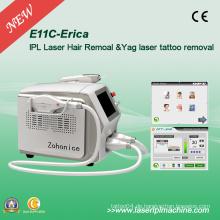 2000W leistungsstarke IPL Haarentfernung und Qswitch ND YAG Tattoo Entferne Maschine