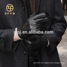 Männer Winter Wolle gefüttert Leder Handschuh mit Top Hirsch Haut Wölbung Verzierungen