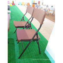 Novos itens Rattan Style Table Top Blow Molded Outdoor Leisure Folding Chair