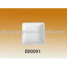 Factory direct wholesale square ceramic tray for restaurants