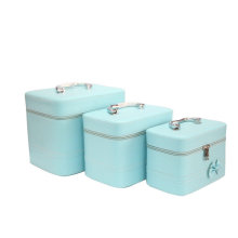 Light Blue Make up Case Alta Qualidade Lady Bag Set