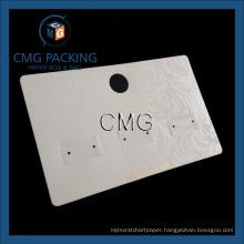 Beige UV Prinitng Earring Display Plastic Card (CMG-105)