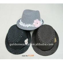 Winter Mädchen Mode Wolle Panama Hüte