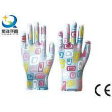 Садовые перчатки, покрытые нитрилом, защитные рабочие защитные перчатки (N6049)