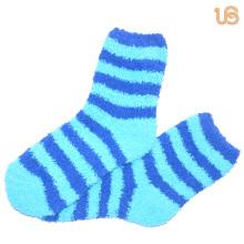 Women′s Stripe Fuzzy Sock