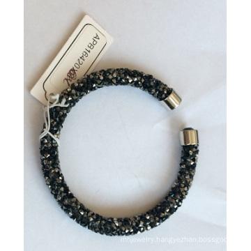 Wholesale Open Black Bracelet with Metal