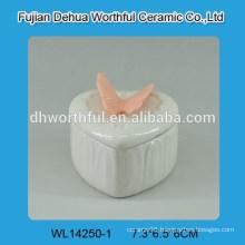 Mini butterfly design ceramic jewelry box