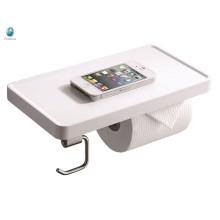 Accessoire de salle de bain minimalisme blanc ABS papier hygiénique Titulaire salle de bain titulaire de téléphone