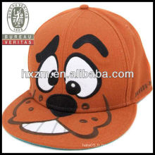 Chapeaux d'orange avec des bouts de snapback pour animaux de broderie pour les enfants