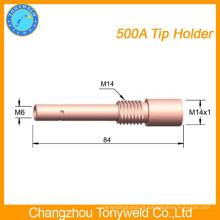 Peças de soldagem Panasonic 500A suporte de ponta de contato de cobre