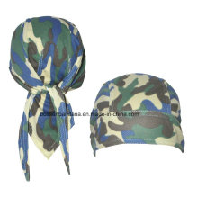 OEM Produce Customized Logo Printed Cotton Promotional Hip Hop Bicycle Head Scarf Skull Headscarf