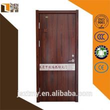 Rockwool perlita cheia de projeto de porta de madeira do painel, portas corta-fogo painel Visão, decoração porta