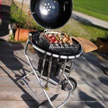 Im Freien beweglicher BBQ-Holzkohle-Raucher-Grill