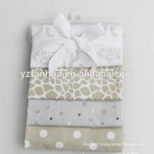 Coton imprimé customed flanelle maintenant né doudous bébés