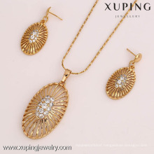 61819- Xuping female pendant earring jewelry jewelry set in latest design