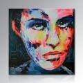 Handgemalte moderne Figur Palette Messer Wand Kunst Dekor Zusammenfassung Porträt Pop Ölgemälde auf Leinwand