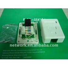 Китай Шэньчжэнь Netlink белый cat5e УТП одного порта лицевой панели
