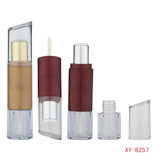 Oblique Double Head Lipstick y Lip Gloss Tube