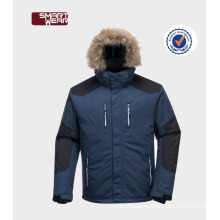 New Fashion windproof outdoor cloth snow skiing jacket with fur hood