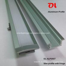Alp2507 Slim Extrusion für LED-Streifen Aluminiumprofil